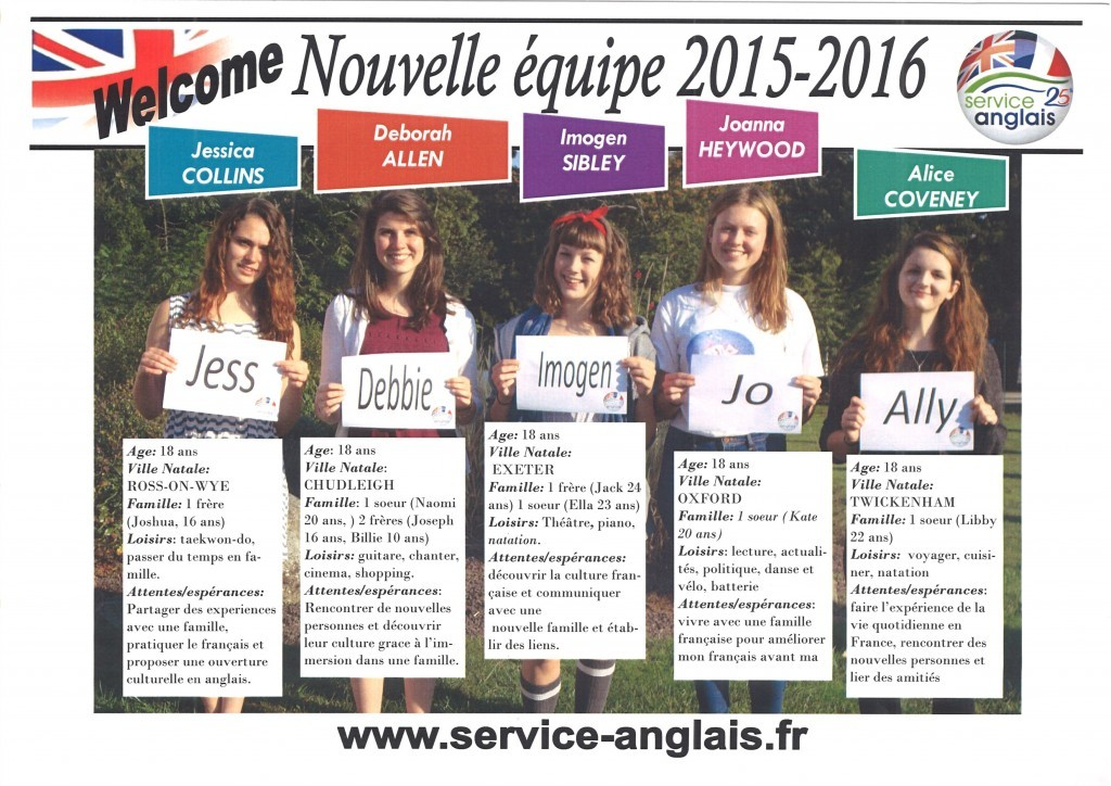 stagiaires anglais